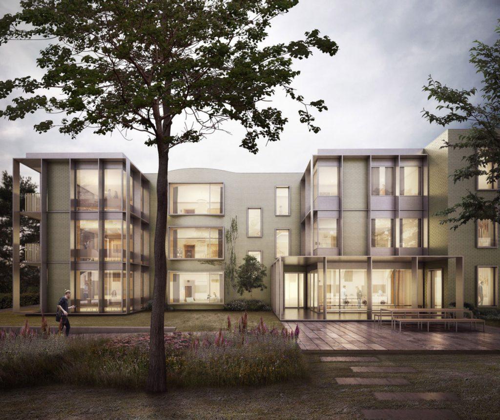 Alison-Brooks-Architects-_-Churchill-College-Graduate-Residences-_-Cambridge-_-Visualisation-Exterior-Front-Court